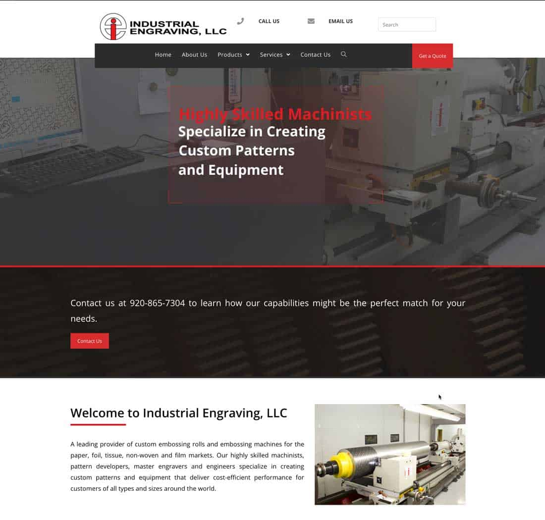 Industrial Engraving updates its capabilities in website relaunch